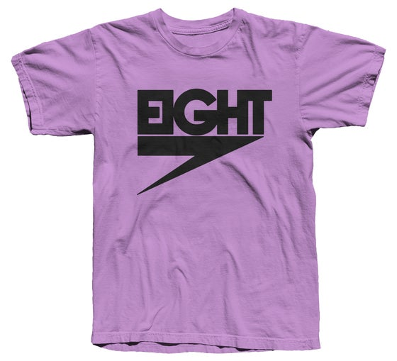 Image of Electric Eight Tee (Black/Purple) - Free Shipping