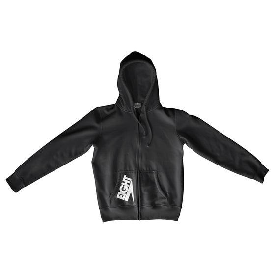 Image of Zip-Up Electric Eight Hoodie (White/Black)
