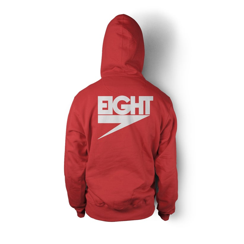Image of Women's Electric Eight Hoodie Zip-Up (White/Pink)