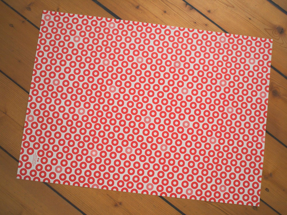 Image of 4 x Red Washers Gift Wrap