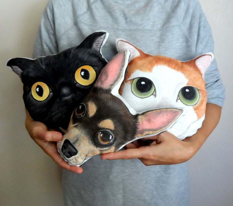 Image of Custom Pet Plush Pillow - Kişiye özel pet plush