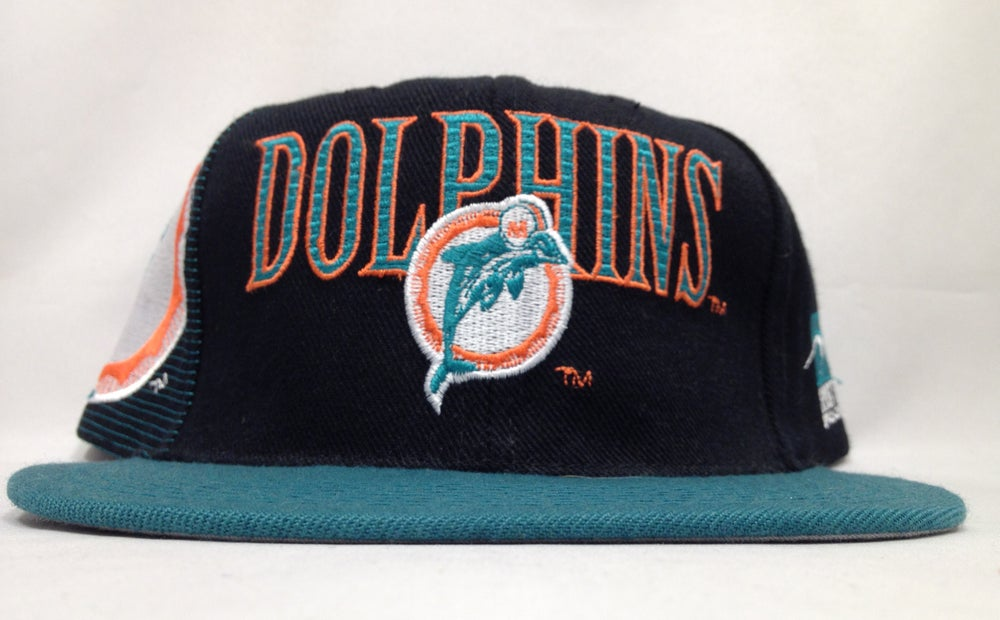 Image of Vintage Miami Dolphins Sports Specialties Black Laser Snapback