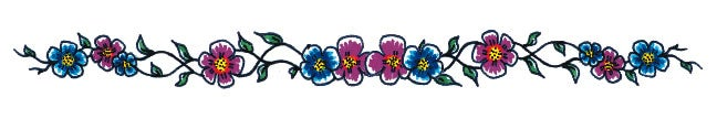 Image of Blues and Fuchsias: 6-Inch Belly Bedazzler