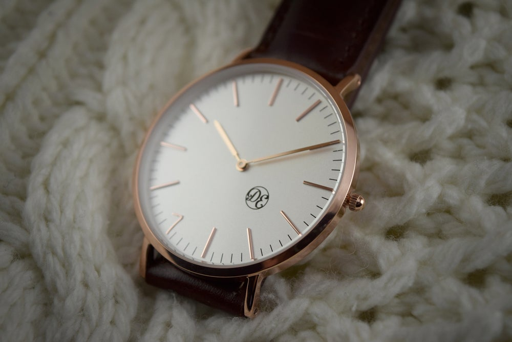 "Image of The Rose Gold ""Genesis"" Brown Leather"