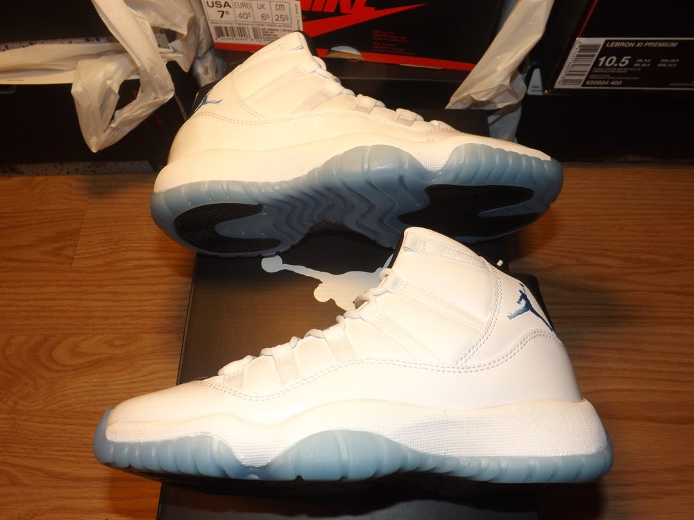 "Image of Air Jordan Retro 11 ""Legend Blue"""
