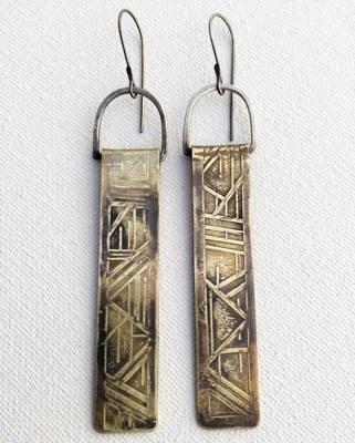 Image of Geo Pillar Earrings