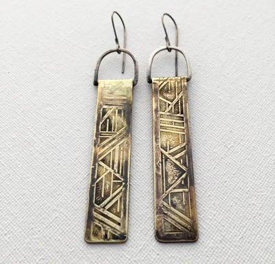 Image of Geo Pillar Earrings