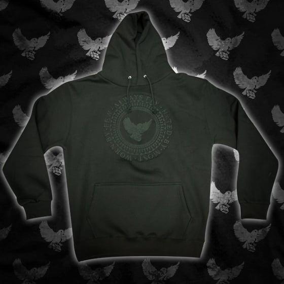 Image of Black/Black Always Fly Crest Hoodie