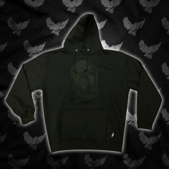 Image of Black/Black Ski Mask Hoodie