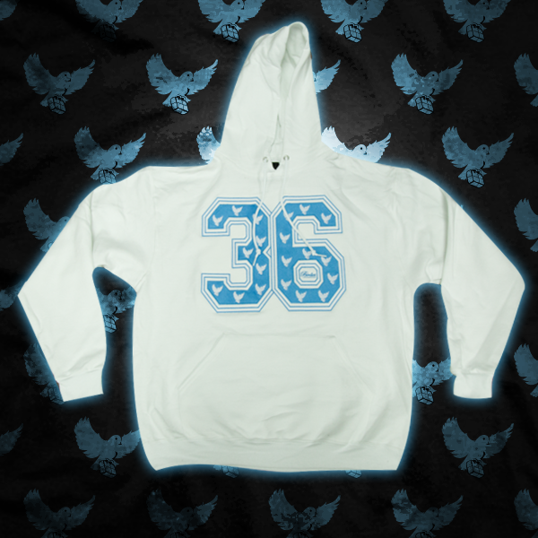 Image of White/L.Blue 36 Hoodie