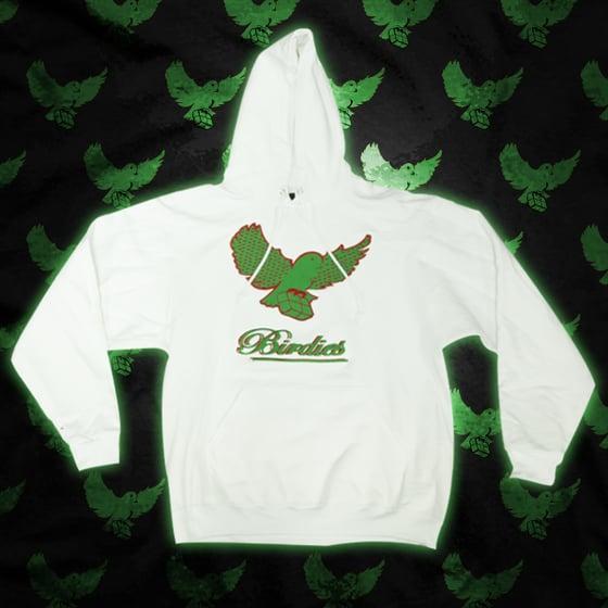 Image of White/Green/Red Pattern Birdies Hoodie