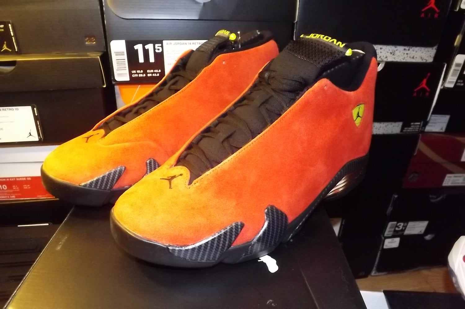 "Image of Air Jordan 14 retro red ""ferrari"" 654459 670"