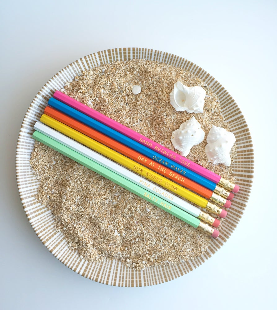 Image of PENCIL SET :: a day at the beach