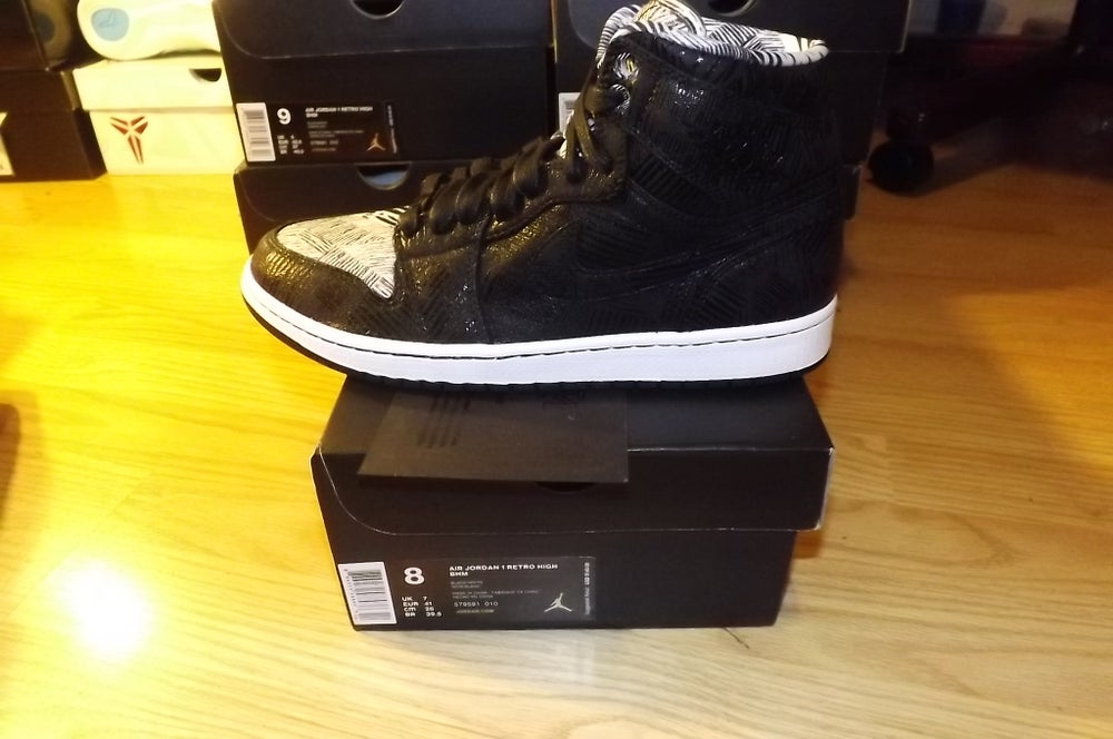 "Image of air jordan 1 retro high black history month ""bhm"""