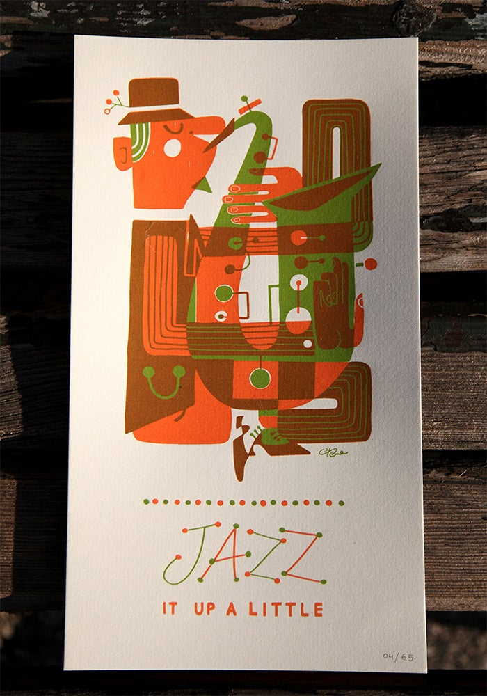 Image of Jazz sax print