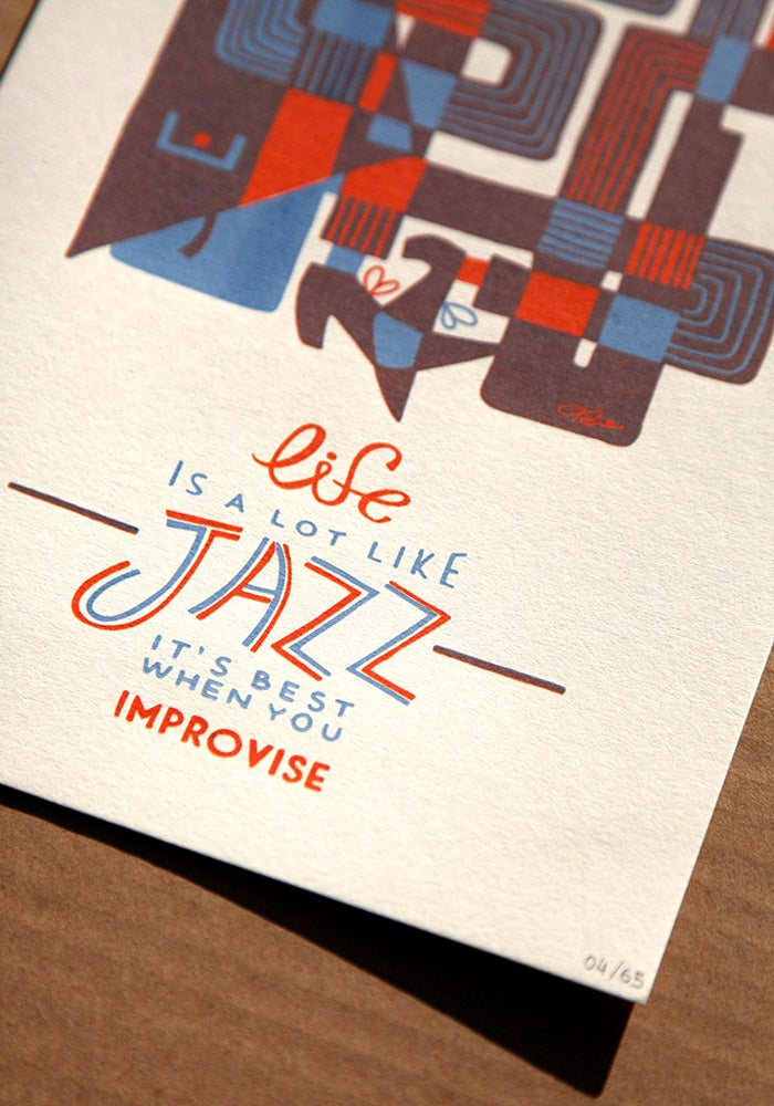 Image of Jazz trumpet print