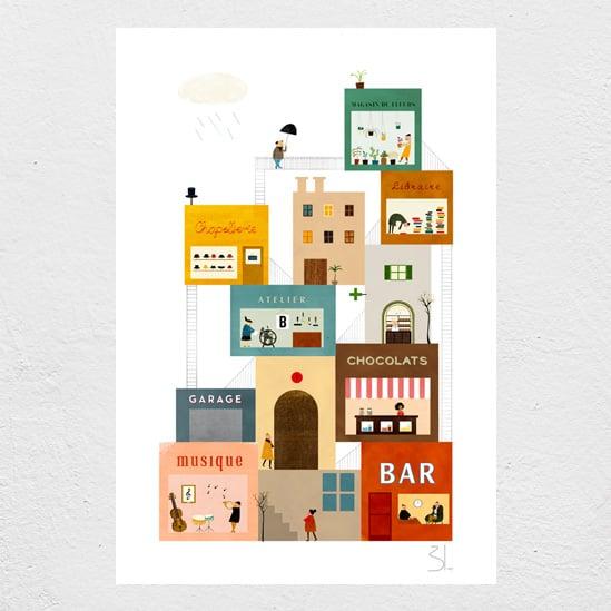 Image of La Grand'Rue print