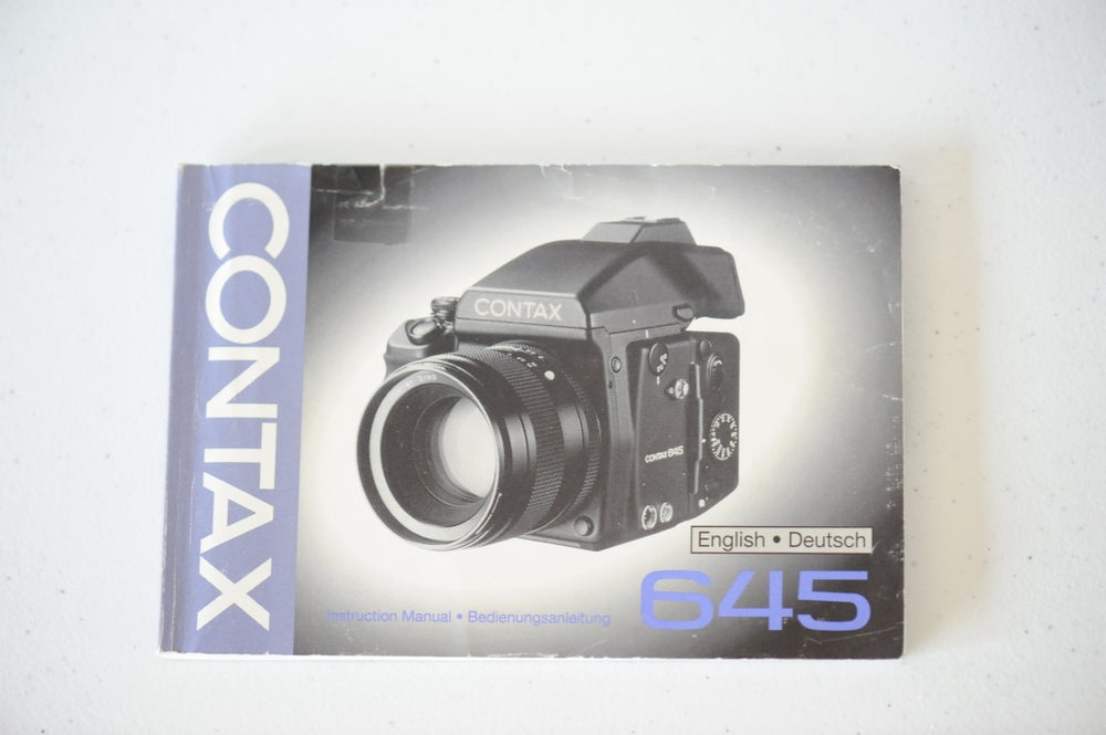Image of Contax 645 User Manual