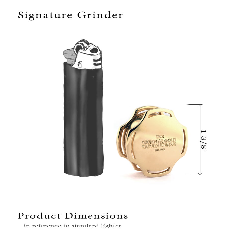 Image of Solid Gold Signature Herbal Grinder, the Industry's FIRST EVER