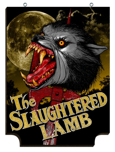 Image of SLAUGHTERED LAMB American Werewolf In London pub signs!