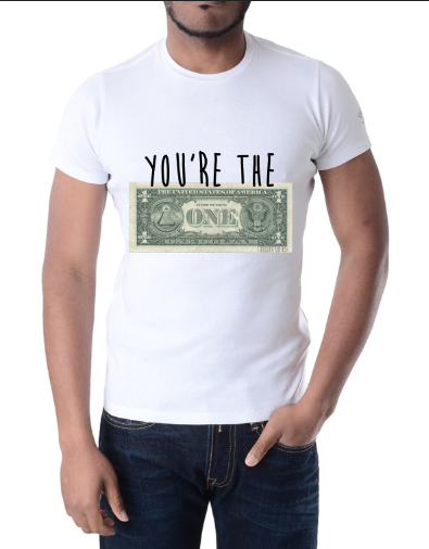 "Image of Millionaires ""You're The One"" White Tee"