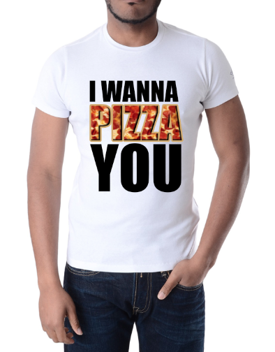 "Image of Millionaires ""I Wanna PIZZA You"" White Tee"