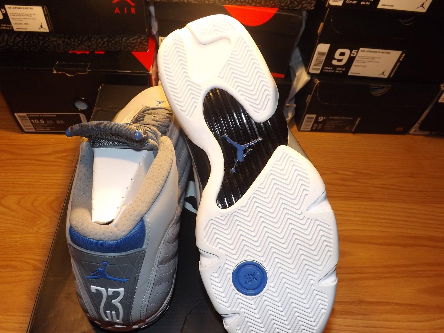 "Image of Air Jordan 14 retro ""sport blue grey"""