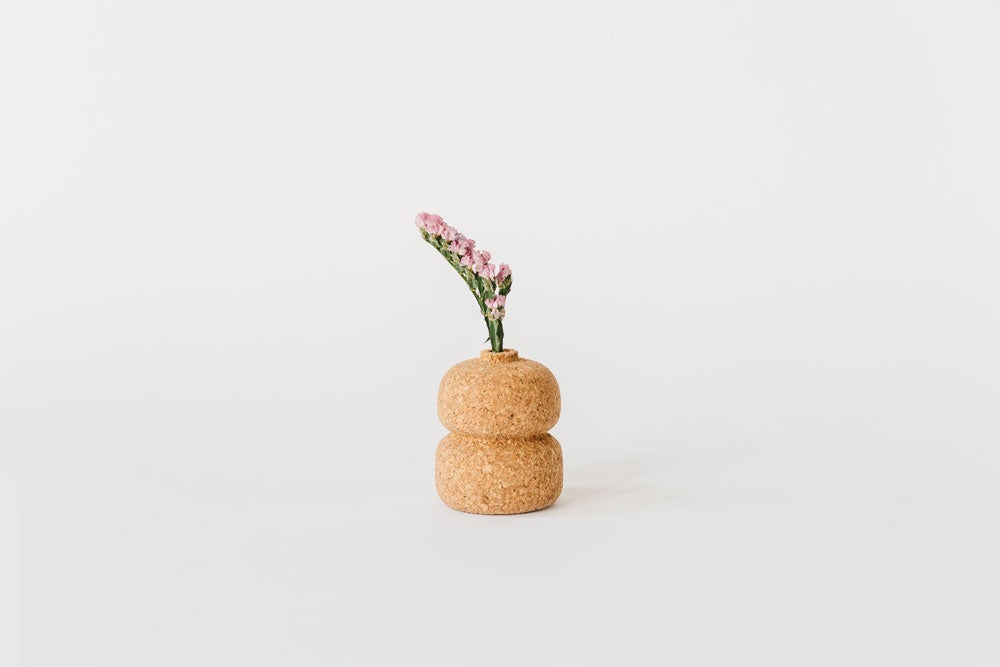 Image of Double Cork Bud Vase