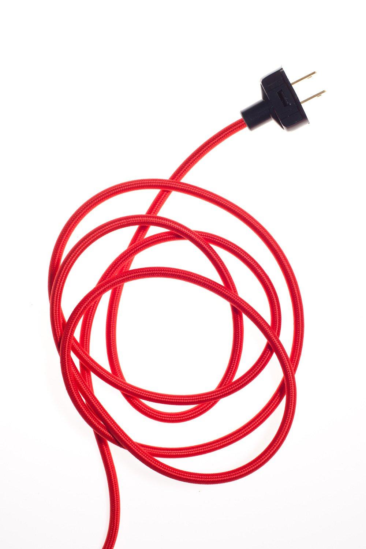 ... Image Of Lamp Kit   Red Lamp Cord