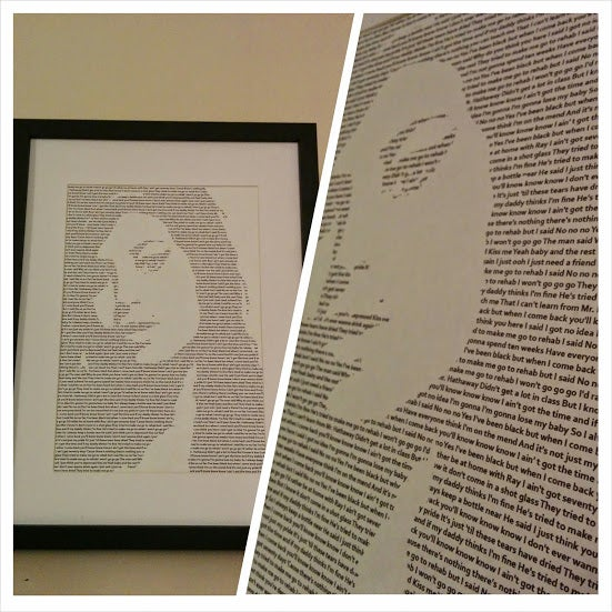 Image of Amy Winehouse / Rehab Print