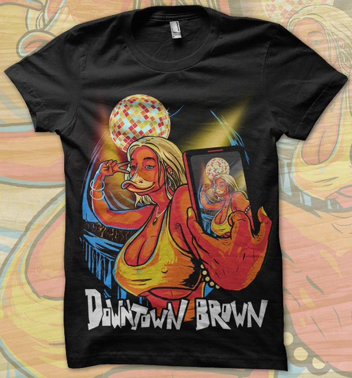 Image of Downtown Brown 'Duckface' Tee
