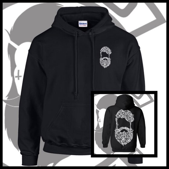 Image of Black Beard & Ink Large Patterned Logo Unisex Hoody