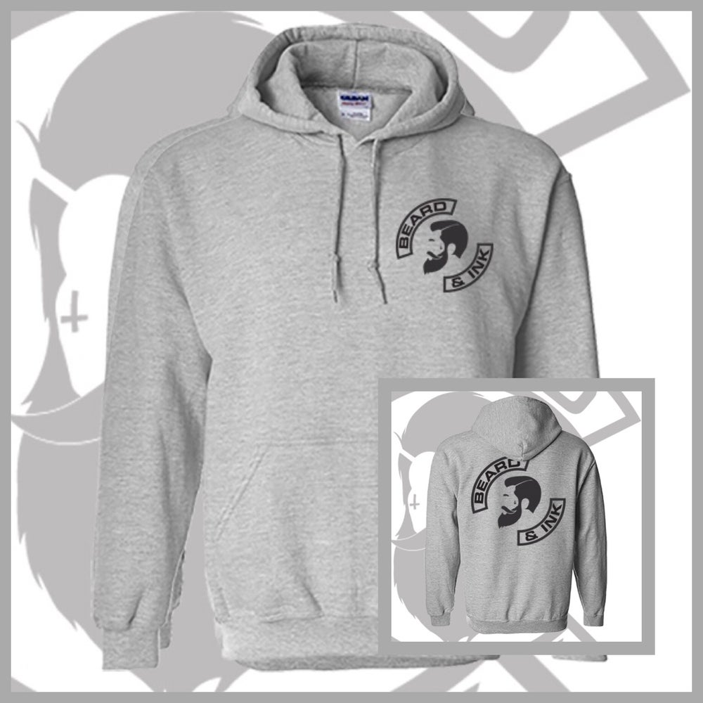 "Image of Grey Rear Beard & Ink ""The Gent"" Logo Unisex Hoody"