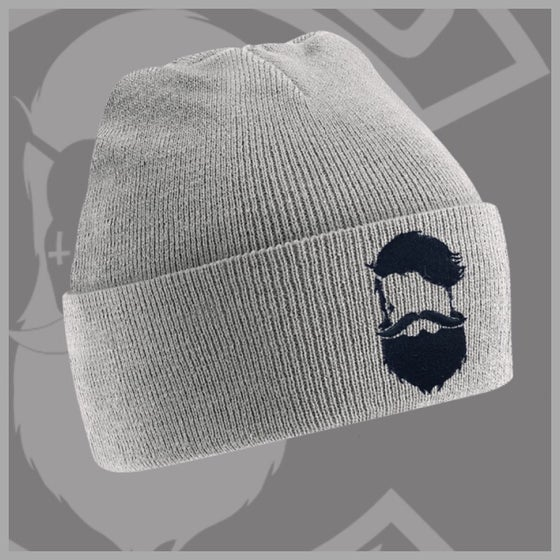 Image of Beard and Ink Unisex Heather Grey Cuffed Beanie