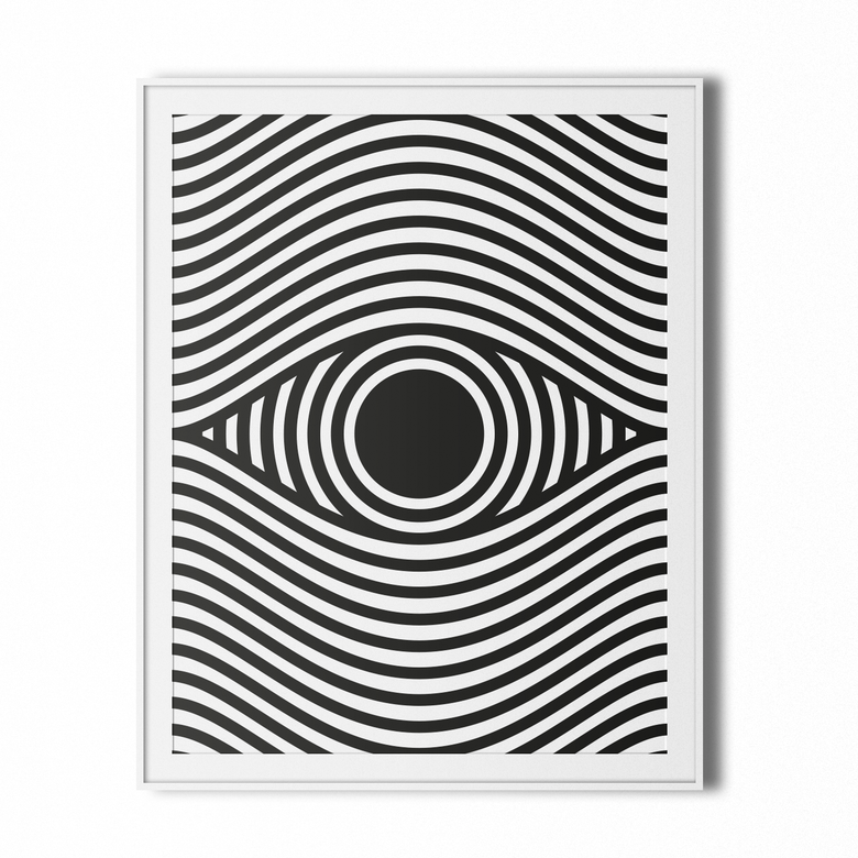 Image of eye op art