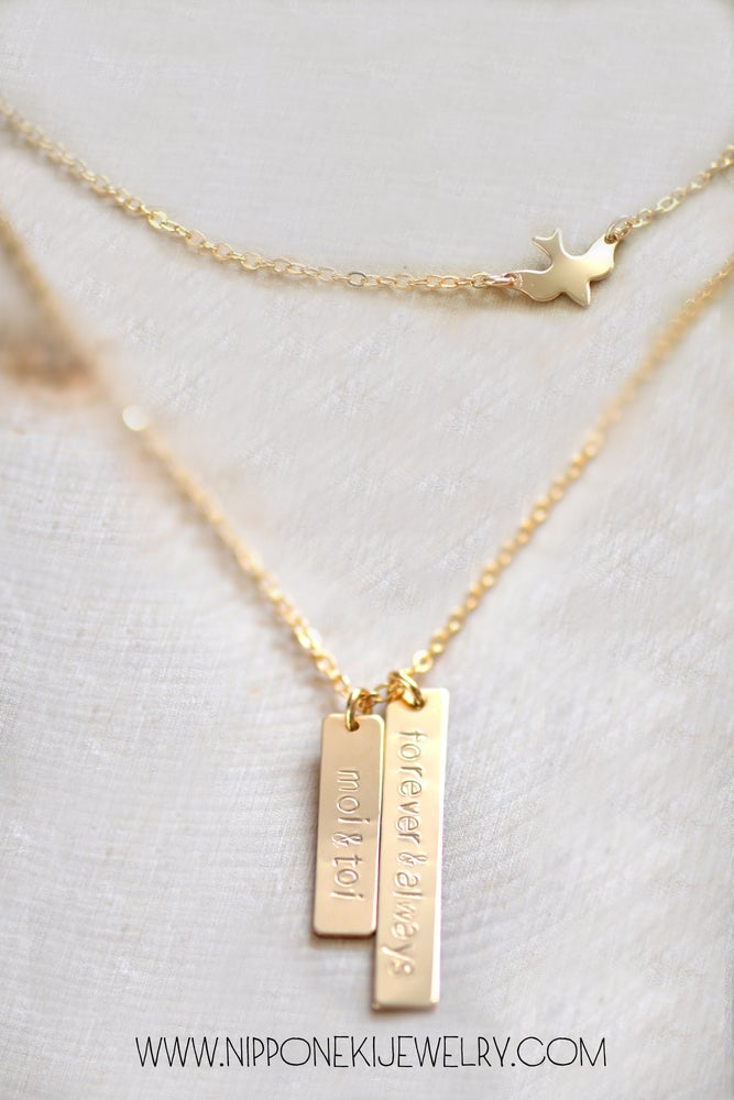 double necklace vertical image bar of dsc custom nameplate product
