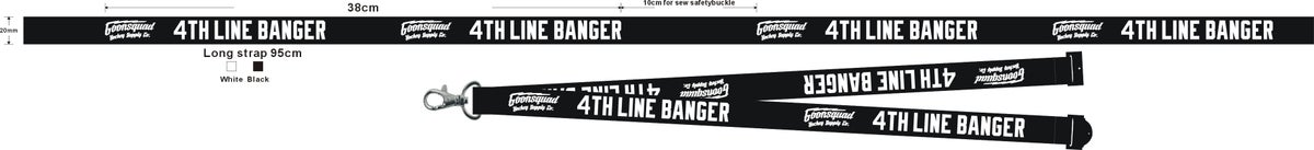 4TH Line Banger Lanyard