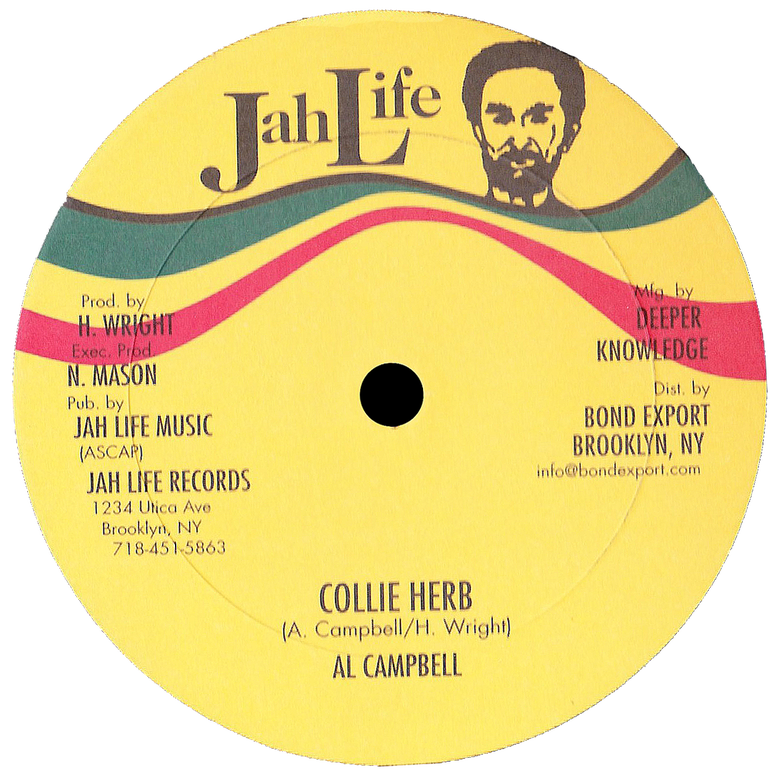 "Image of Al Campbell - Collie Herb / World Crisis 12"" (Jah Life)"