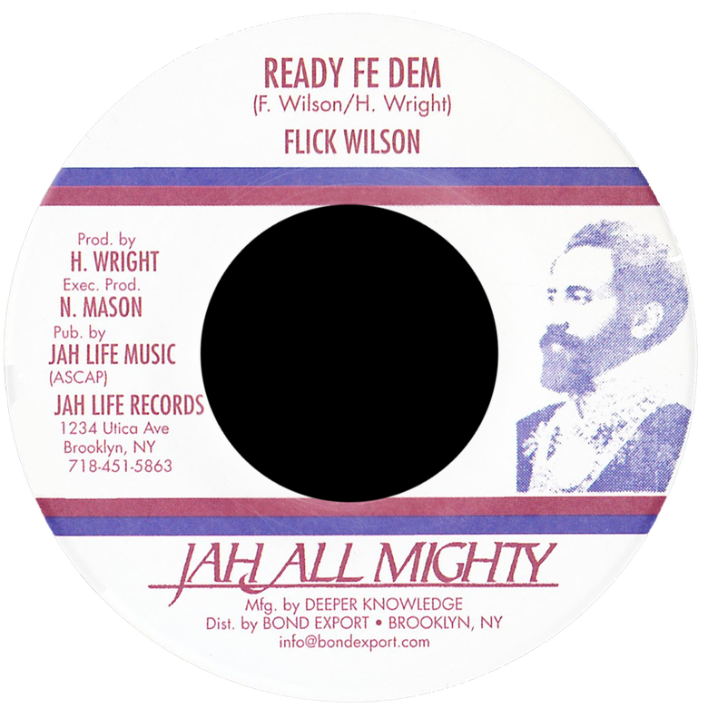 "Image of Flick Wilson - Ready Fe Dem 7"" (Jah All Mighty)"