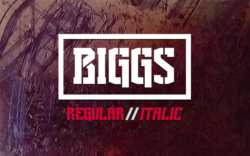 """Image of """"Biggs"""" Font"""