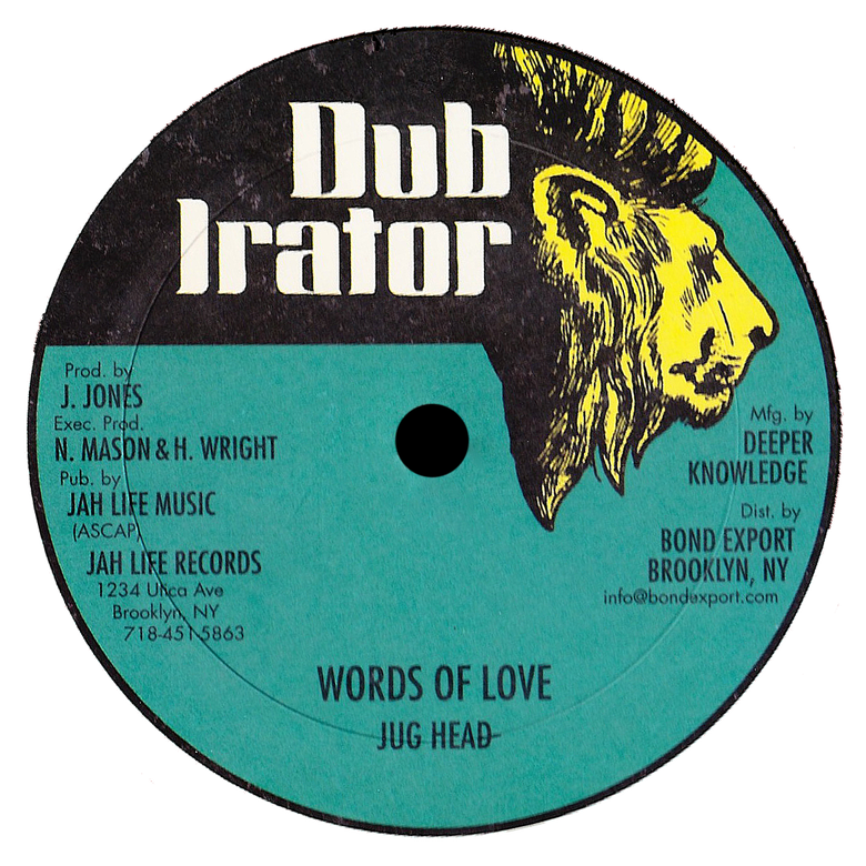 "Image of Jug Head / Ossie D & Stevie G - Words of Love / Just Be Nice 12"" (Dub Irator)"