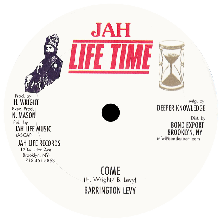 "Image of Barrington Levy - Come / During Making Love 12"" (Jah Life Time)"