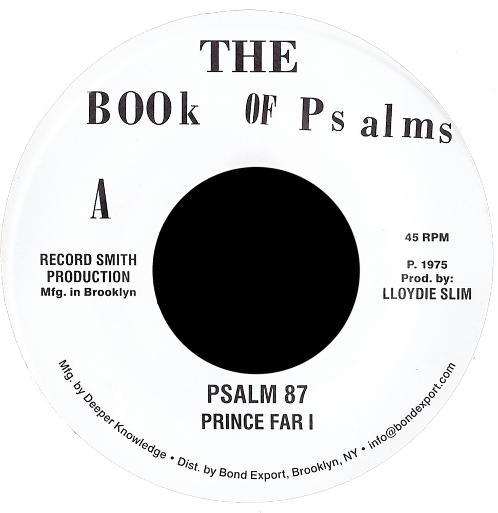 "Image of Prince Far I / Black Oney - Psalm 87 / Festival '75 7"" (Book of Psalms)"
