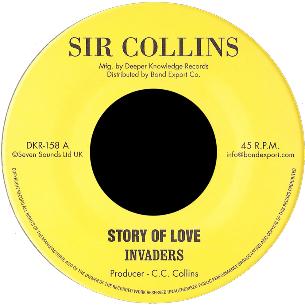 """Image of Invaders - Story of Love / Holy Mountain 7"""" (Sir Collins)"""