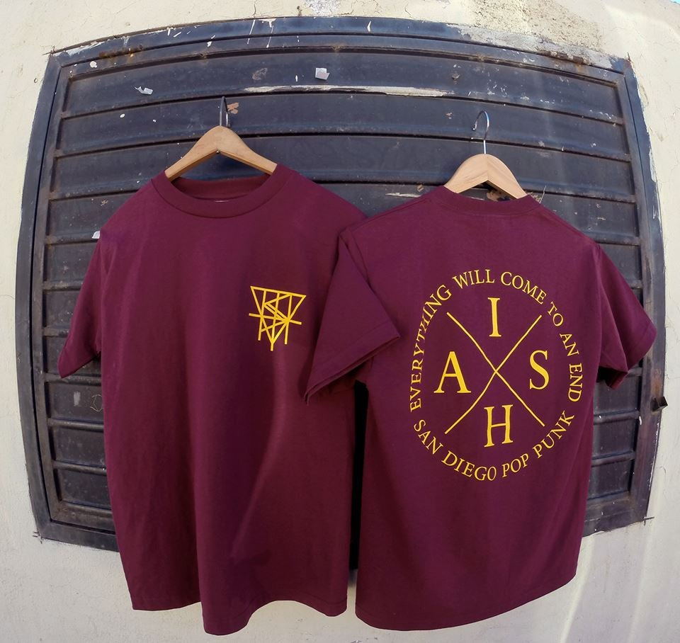 Image of Burgundy Logo Tee