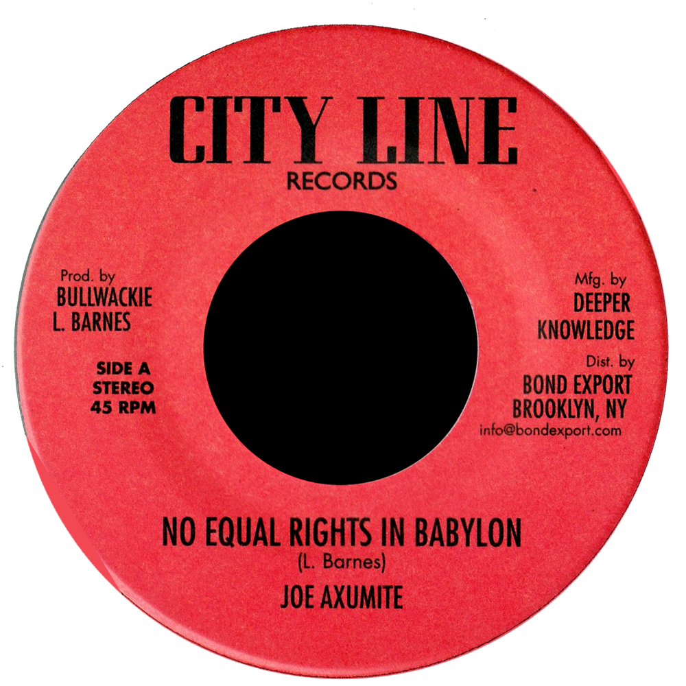 "Image of Joe Axumite - No Equal Rights in Babylon 7"" (City Line)"