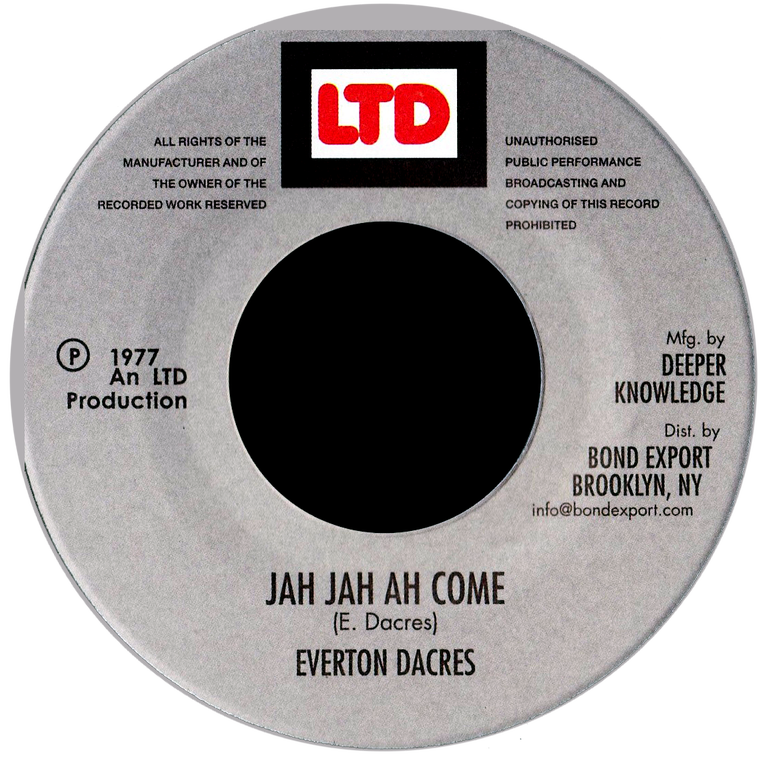 "Image of Everton Dacres - Jah Jah Ah Come 7"" (LTD)"