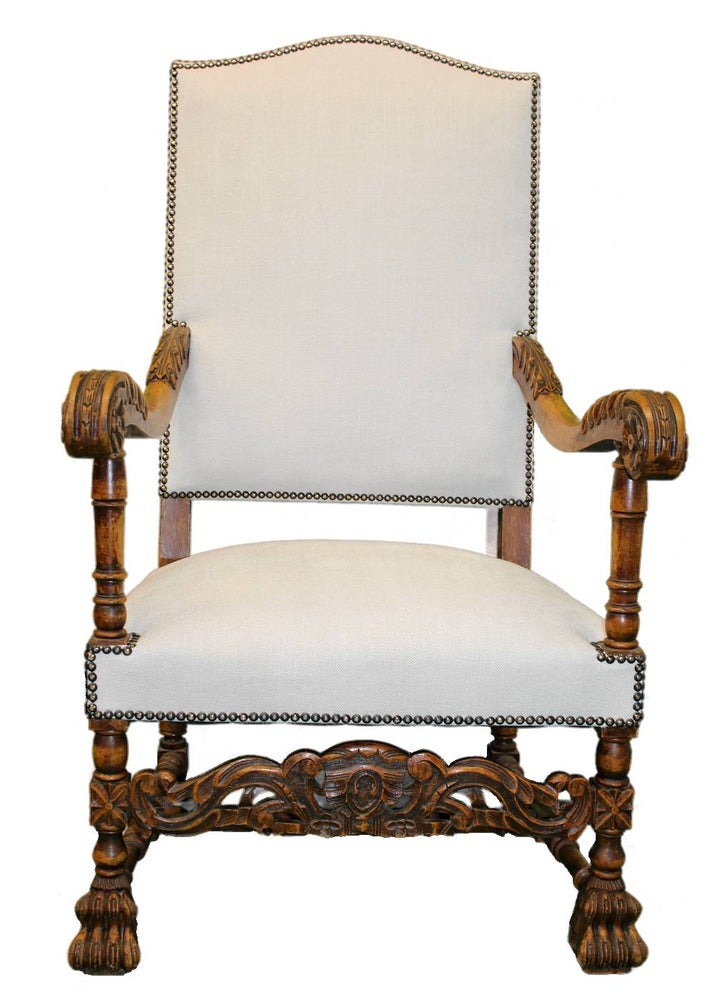 Image of A Pair of Louis XIII Throne Chairs