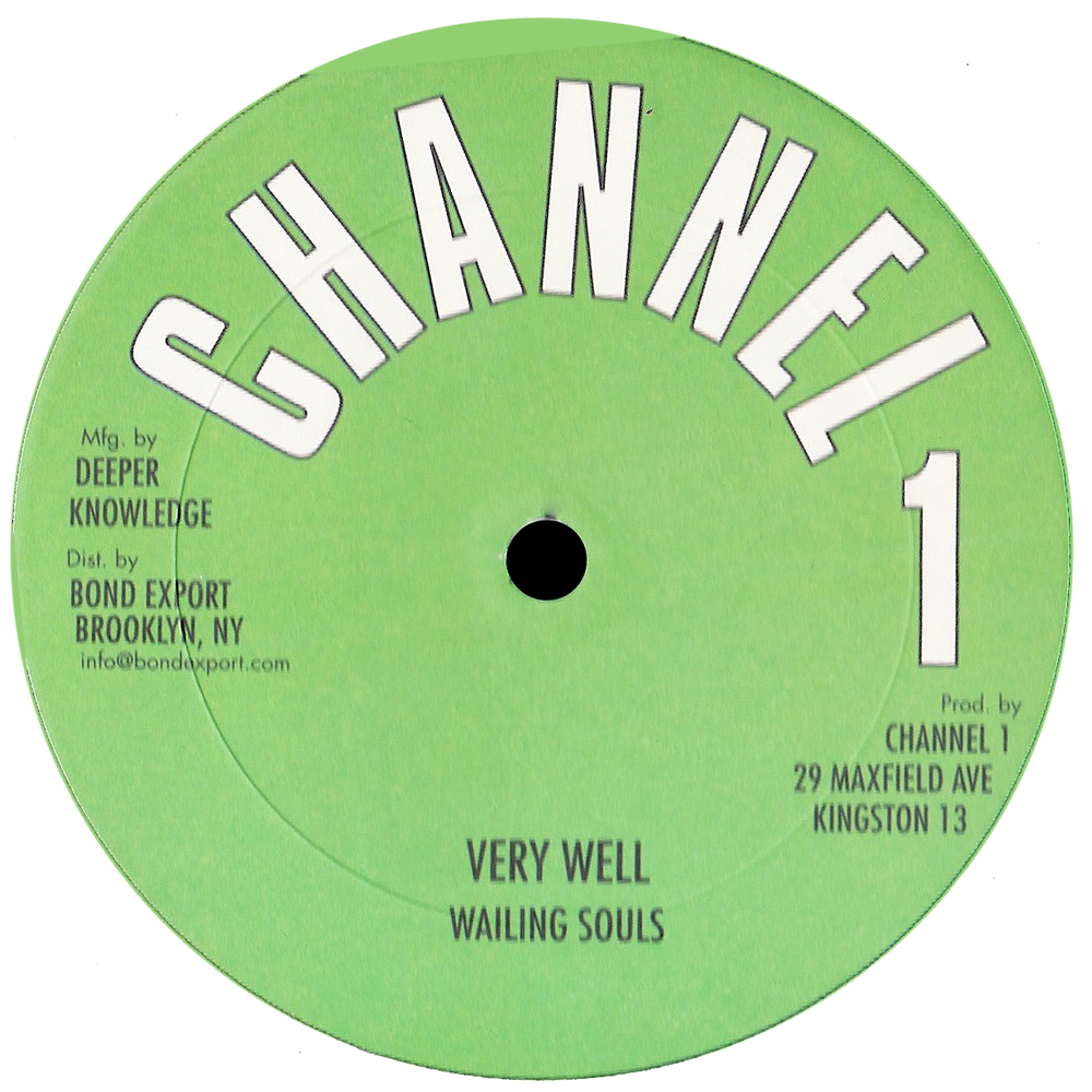 "Image of Wailing Souls - Very Well 12"" (Channel 1)"