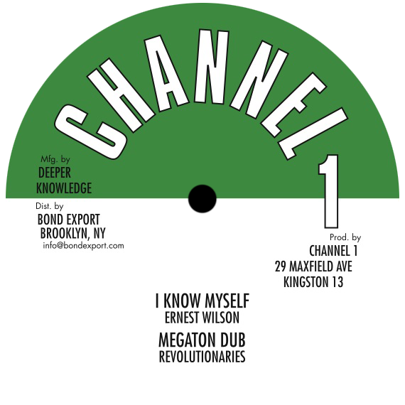 "Image of Ernest Wilson / Revolutionaries - I Know Myself / Megaton Dub 10"" (Channel 1)"